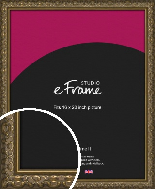 Clamshell Pattern Bronze / Copper Picture Frame, 16x20
