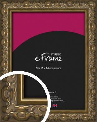 Clamshell Pattern Bronze / Copper Picture Frame, 18x24cm (VRMP-1365-18x24cm)