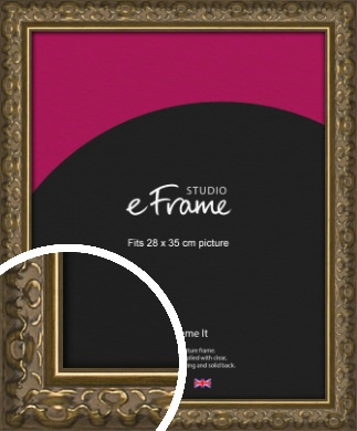 Clamshell Pattern Bronze / Copper Picture Frame, 28x35cm (VRMP-1365-28x35cm)