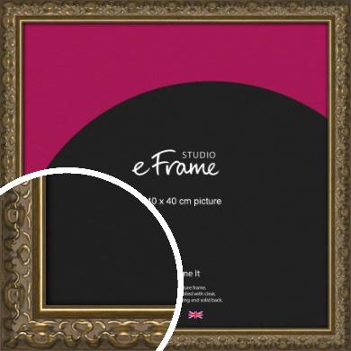 Clamshell Pattern Bronze / Copper Picture Frame, 40x40cm (VRMP-1365-40x40cm)