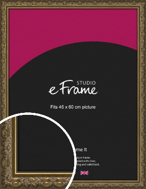 Clamshell Pattern Bronze / Copper Picture Frame, 45x60cm (VRMP-1365-45x60cm)