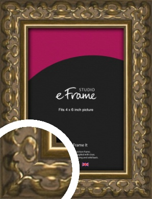 Clamshell Pattern Bronze / Copper Picture Frame, 4x6