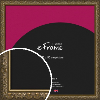 Clamshell Pattern Bronze / Copper Picture Frame, 50x50cm (VRMP-1365-50x50cm)
