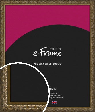 Clamshell Pattern Bronze / Copper Picture Frame, 50x60cm (VRMP-1365-50x60cm)