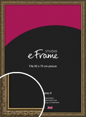 Clamshell Pattern Bronze / Copper Picture Frame, 50x70cm (VRMP-1365-50x70cm)