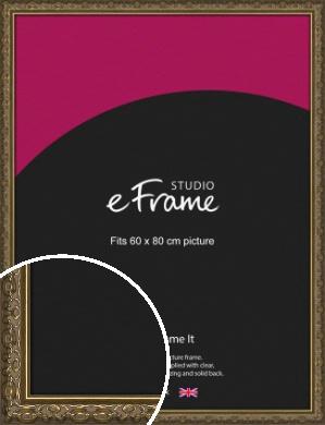 Clamshell Pattern Bronze / Copper Picture Frame, 60x80cm (VRMP-1365-60x80cm)