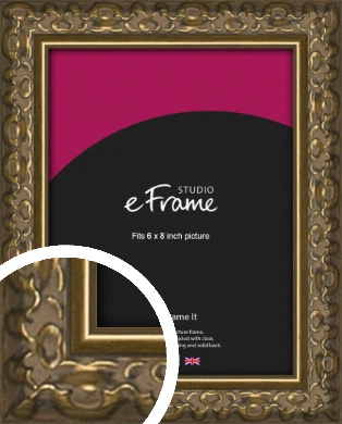 Clamshell Pattern Bronze / Copper Picture Frame, 6x8