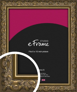 Clamshell Pattern Bronze / Copper Picture Frame, 8x10
