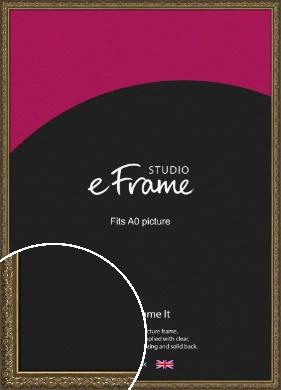Clamshell Pattern Bronze / Copper Picture Frame, A0 (841x1189mm) (VRMP-1365-A0)