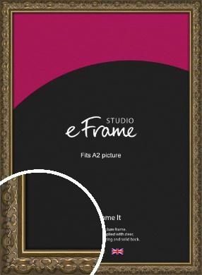 Clamshell Pattern Bronze / Copper Picture Frame, A2 (420x594mm) (VRMP-1365-A2)