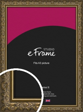Clamshell Pattern Bronze / Copper Picture Frame, A3 (297x420mm) (VRMP-1365-A3)