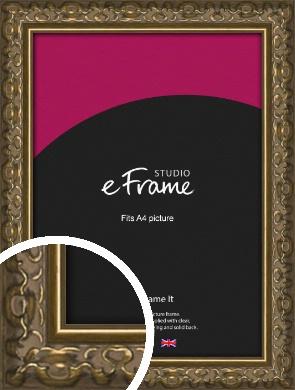 Clamshell Pattern Bronze / Copper Picture Frame, A4 (210x297mm) (VRMP-1365-A4)