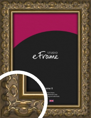 Clamshell Pattern Bronze / Copper Picture Frame (VRMP-1365)