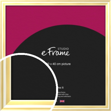 Sleek & Rounded Gold Picture Frame, 40x40cm (VRMP-A082-40x40cm)