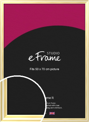 Sleek & Rounded Gold Picture Frame, 50x70cm (VRMP-A082-50x70cm)
