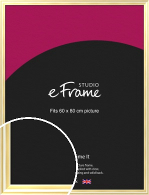 Sleek & Rounded Gold Picture Frame, 60x80cm (VRMP-A082-60x80cm)