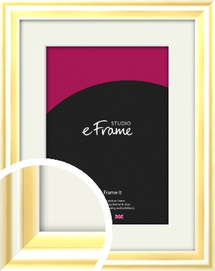 Sleek & Rounded Gold Picture Frame & Mount (VRMP-A082-M)