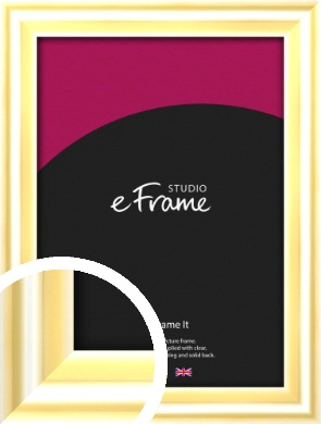Sleek & Rounded Gold Picture Frame (VRMP-A082)