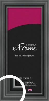 Designer Black Picture Frame, 4x10