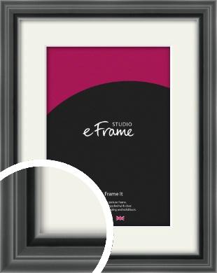Designer Black Picture Frame & Mount (VRMP-A085-M)