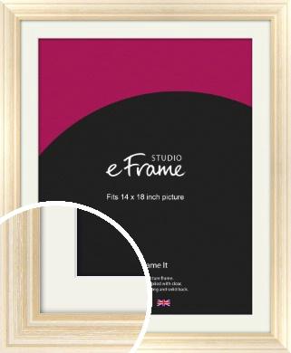 Peaches & Cream Picture Frame & Mount, 14x18