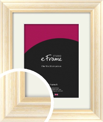 Peaches & Cream Picture Frame & Mount, 15x20cm (6x8