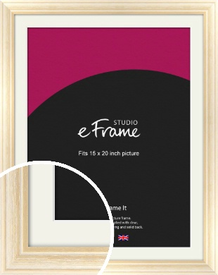 Peaches & Cream Picture Frame & Mount, 15x20
