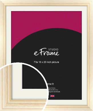 Peaches & Cream Picture Frame & Mount, 16x20
