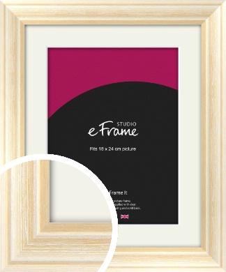 Peaches & Cream Picture Frame & Mount, 18x24cm (VRMP-270-M-18x24cm)