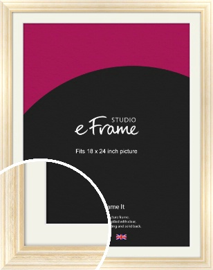 Peaches & Cream Picture Frame & Mount, 18x24