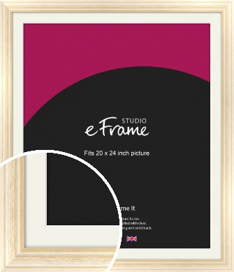 Peaches & Cream Picture Frame & Mount, 20x24