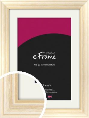 Peaches & Cream Picture Frame & Mount, 20x30cm (8x12