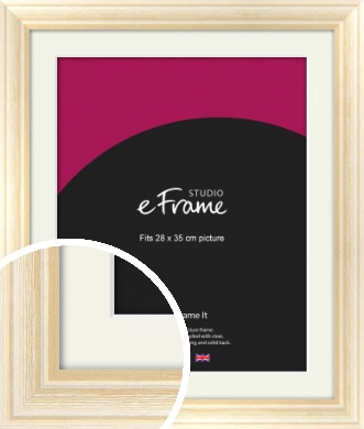 Peaches & Cream Picture Frame & Mount, 28x35cm (VRMP-270-M-28x35cm)