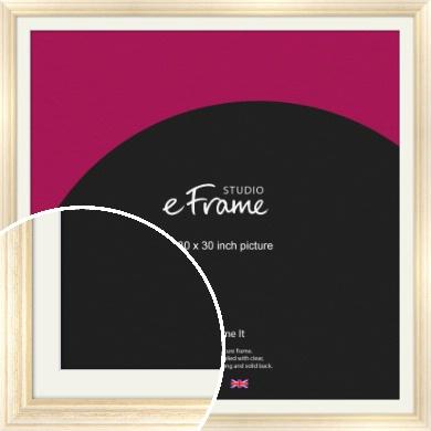 Peaches & Cream Picture Frame & Mount, 30x30