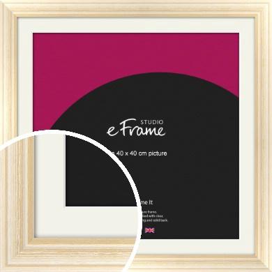 Peaches & Cream Picture Frame & Mount, 40x40cm (VRMP-270-M-40x40cm)