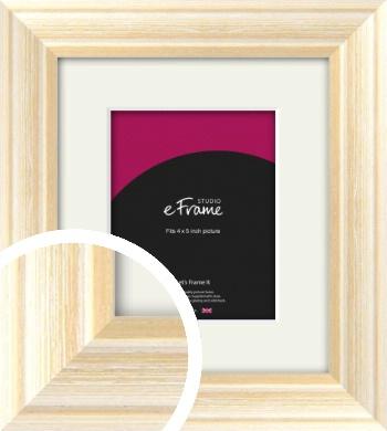 Peaches & Cream Picture Frame & Mount, 4x5