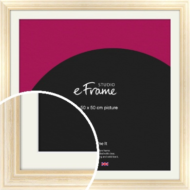 Peaches & Cream Picture Frame & Mount, 50x50cm (VRMP-270-M-50x50cm)