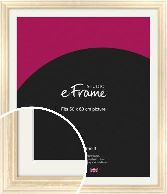 Peaches & Cream Picture Frame & Mount, 50x60cm (VRMP-270-M-50x60cm)
