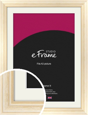 Peaches & Cream Picture Frame & Mount, A3 (297x420mm) (VRMP-270-M-A3)