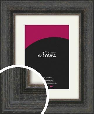 Shabby Chic Dark Brown Picture Frame & Mount (VRMP-1371-M)