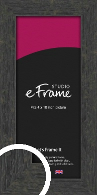Worn Industrial Brown Picture Frame, 4x10