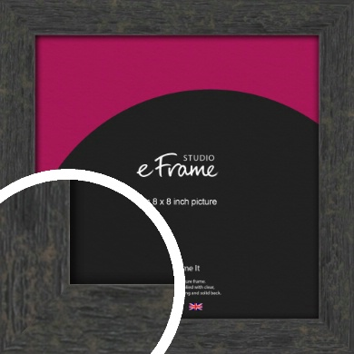 Worn Industrial Brown Picture Frame, 8x8