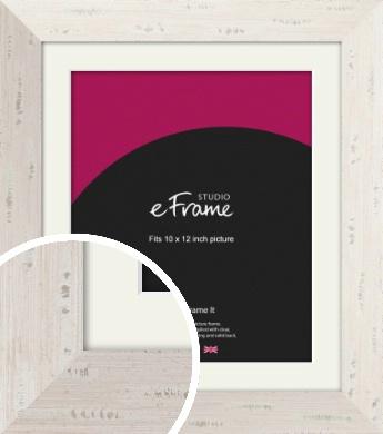 Wide Worn Cream Picture Frame & Mount, 10x12