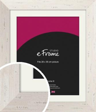 Wide Worn Cream Picture Frame & Mount, 28x35cm (VRMP-620-M-28x35cm)