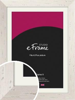 Wide Worn Cream Picture Frame & Mount, A3Plus (VRMP-620-M-329x483mm)