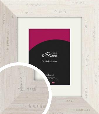 Wide Worn Cream Picture Frame & Mount, 4.5x6