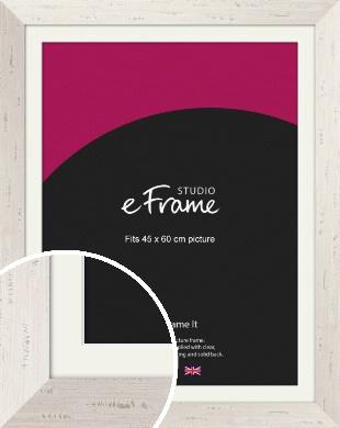 Wide Worn Cream Picture Frame & Mount, 45x60cm (VRMP-620-M-45x60cm)