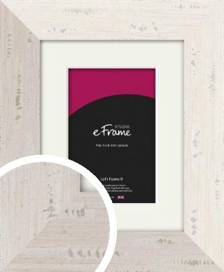 Wide Worn Cream Picture Frame & Mount, 4x6