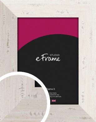 Wide Worn Cream Picture Frame (VRMP-620)