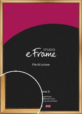 Classical Gold Picture Frame, A0 (841x1189mm) (VRMP-216-A0)